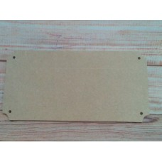 4mm Thick MDF Cut out corner plaque 200mm